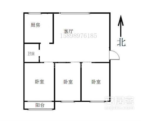 皇冠中区3室三楼97平139万带草厦